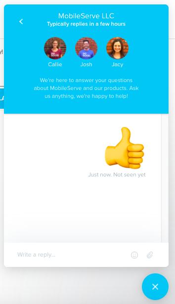 MobileServe In-App Messenger
