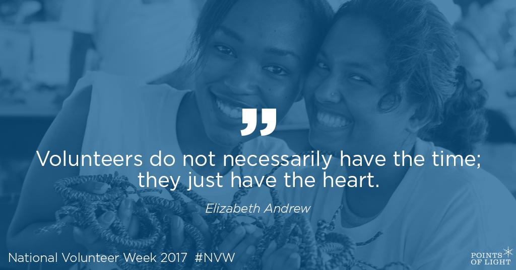 National Volunteer Week Quotes