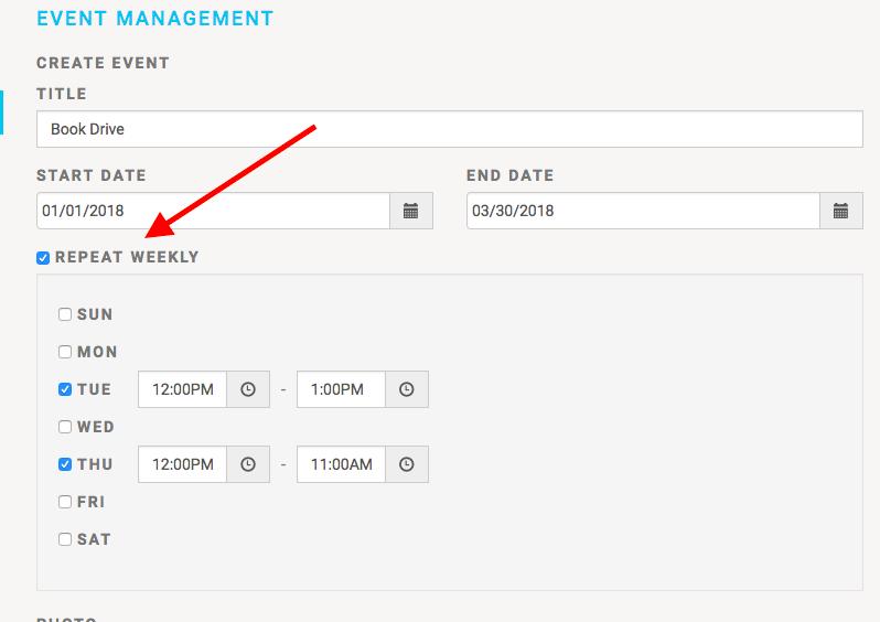 MobileServe Recurring Volunteer Events Management